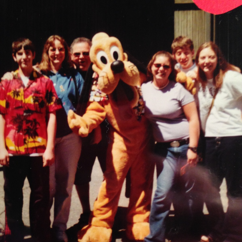 Jessica with her family at Disney World, in 2003!