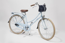 Vegan leather bag by Matt & Nat on a beach cruiser bicycle